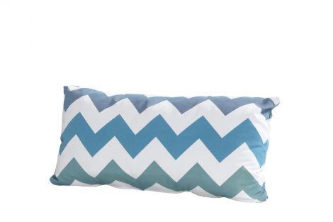 Coussin 30x60 - zigzag bleu