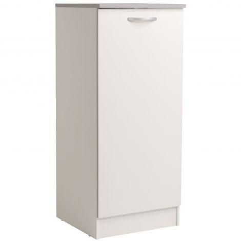 Armoire de cuisine Spott H140 cm avec porte - blanc