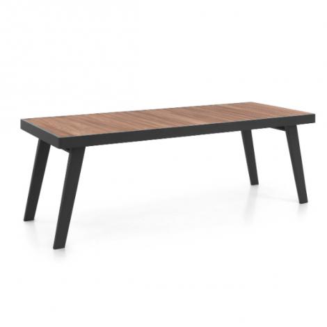 Table de jardin Corsica - noir/teck