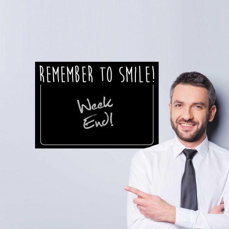 Sticker mural Remember to smile - tableau noir