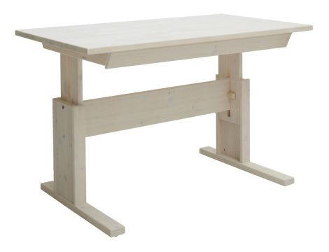 Bureau avec tiroir 120cm - white wash