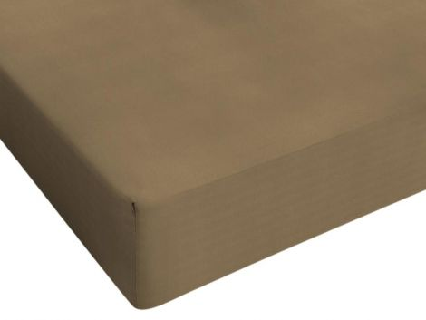 Drap-housse Jersey taupe 80/90/100x200cm