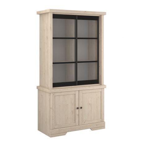 Armoire vitrée Vanessa avec portes coulissantes