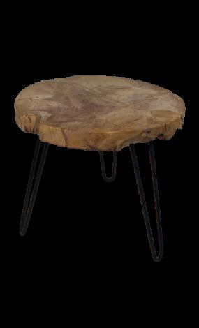 Table d'appoint Root ø55cm ronde - teck/bois de racine