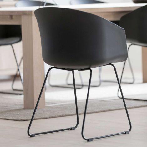 Set de 2 chaises Anouck - noir