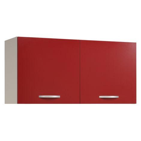 Meuble haut Oke 120 cm - rouge