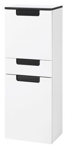 Armoire haute/large Siena 40cm - blanc/anthracite