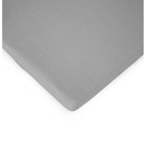 Drap-housse pour lit bébé 60x120 - gris