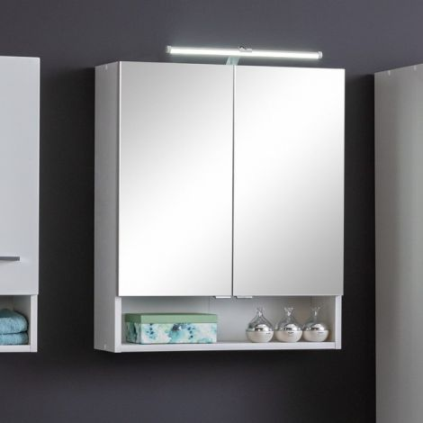 Armoire de toilette Ricca 60cm 2 portes - blanc