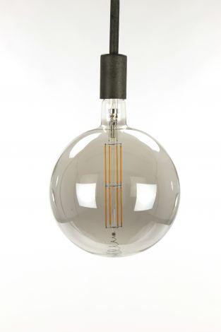 Ampoule LED à filament globe Ø20 0 - E27 8W dimmable - Smoke grey glass
