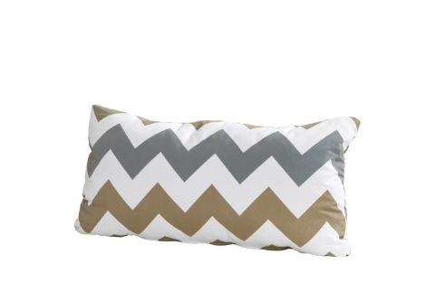 Coussin 30x60 - zigzag taupe