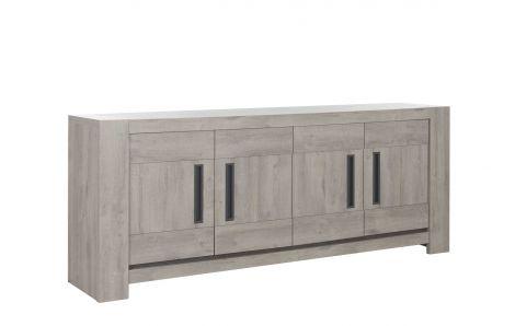 Bahut Bosy 4 portes - chêne gris clair
