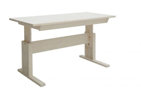 Bureau avec tiroir 140cm - white wash