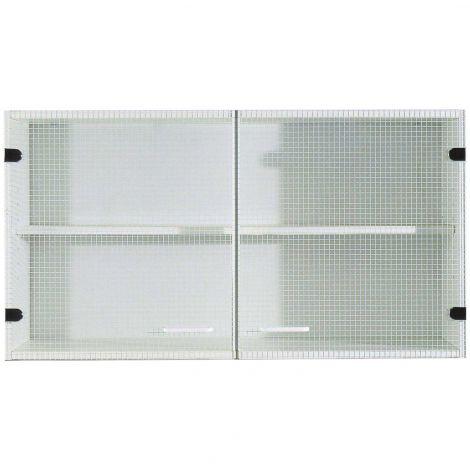 Meuble haut Bingo 100 cm portes en verre - blanc