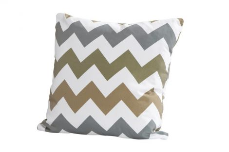 Coussin 50x50 - zigzag taupe