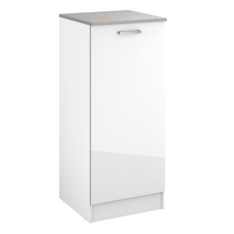 Meuble Eli 60x141 avec porte - blanc