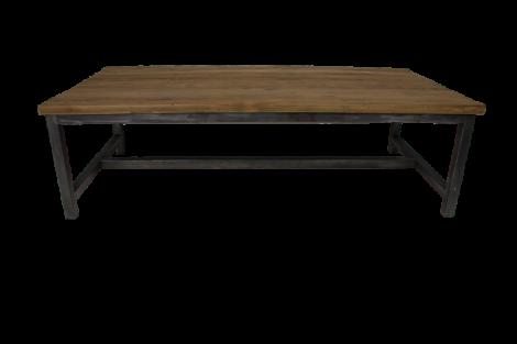 Table basse Hunter - 120x60 cm - teck / fer recyclé
