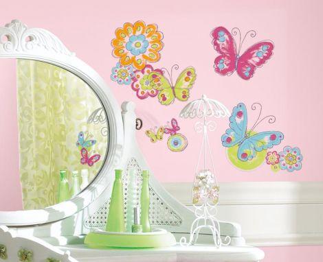 RoomMates stickers muraux - Papillons effet peint à la main