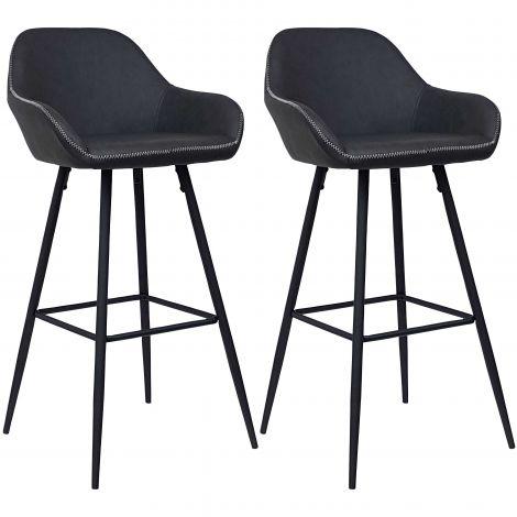 Jeu de 2 chaises de bar Lounge