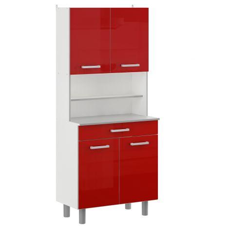 Buffet Felix 80cm - rouge brillant