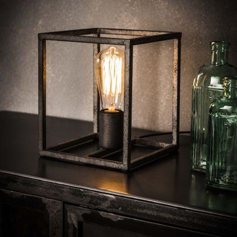 Lampe de table cubic - Finition argent ancien