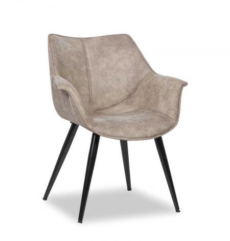 Chaise 'Milan' Gris (2 par boïte)
