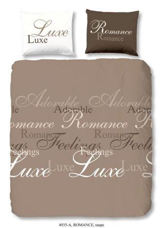 Housse de couette Romance Taupe 140x220cm
