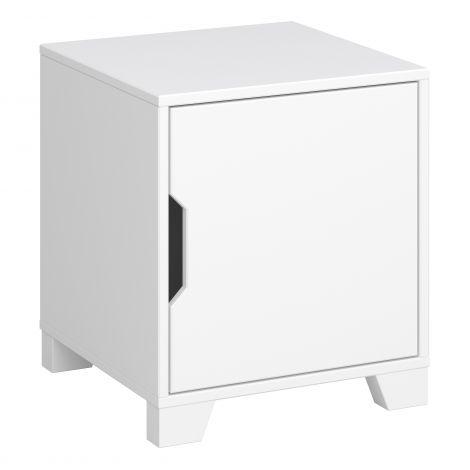 Table de chevet Loki 1 porte - blanc