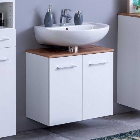 Meuble sous lavabo Pares 60cm 2 tiroirs - blanc