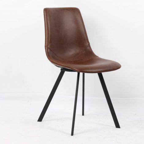 Lot de 2 chaises Norway - brun