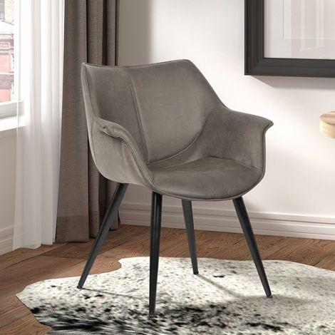 Lot de 2 chaises Milan - gris