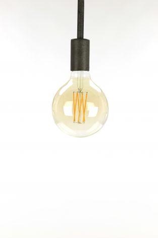 Ampoule LED à filament globe Ø12 5 - E27 6W 2100K 450lm dimmable - Verre ambre