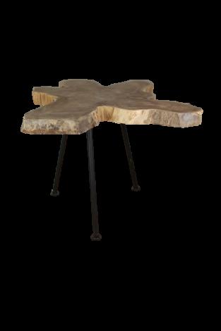 Table basse Root - ø50-60 cm - vieux teck / métal