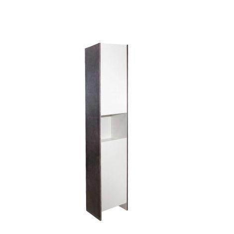 Colonne Biarritz 2 portes - blanc/béton