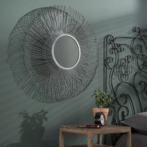 Miroir Ø80 blade - Nickel noir