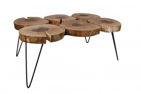 Table basse Roxy - 6 feuilles - huile naturelle / noir