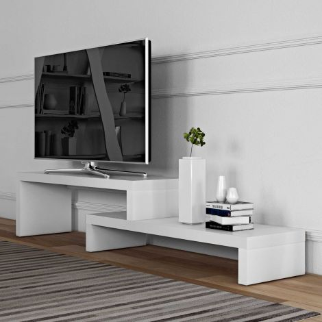 Meuble tv Cliff 125cm - blanc