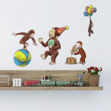 Stickers muraux George le singe