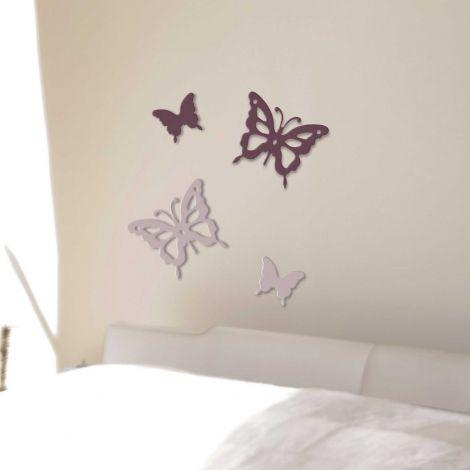 Stickers muraux 3D Papillons - mousse