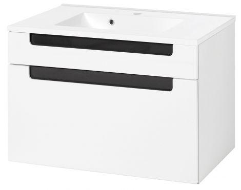 Meuble lavabo Siena 80cm - blanc/anthracite