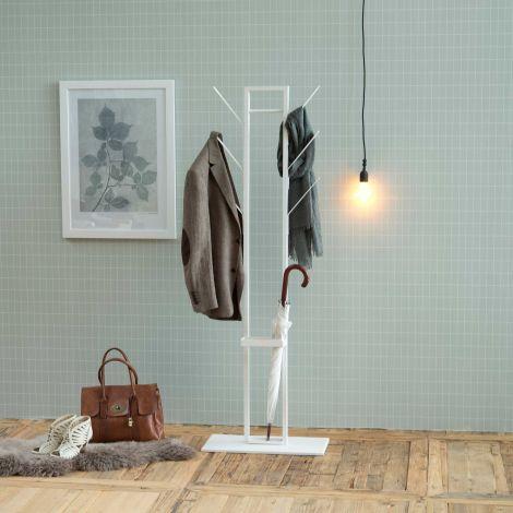 Portemanteau Vinci avec porte-parapluie - blanc