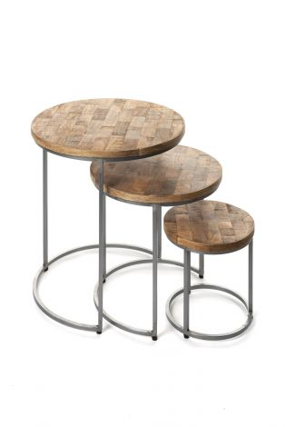 Table gigogne 'Levi' set de 3 (1c)