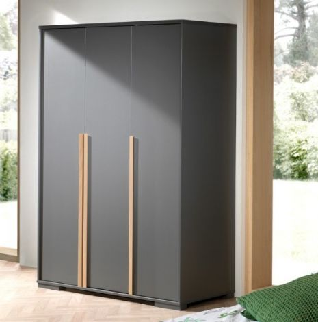 Armoire London 3 portes - anthracite