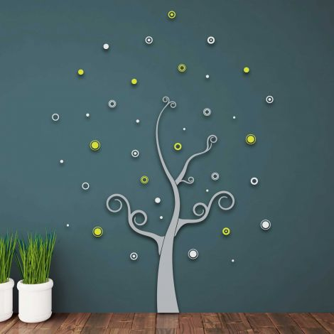Stickers muraux 3D Tree - mousse