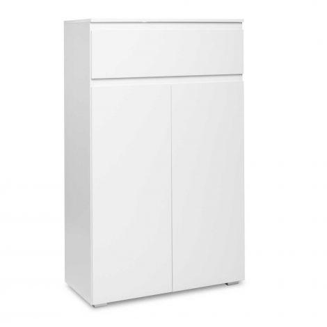 Armoire d'appoint Image 2 portes & 1 tiroir - blanc