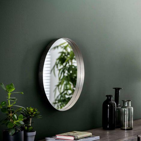 Miroir Ro Ø50 - nickel antique