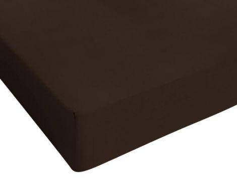 Drap-housse Jersey brun 80/90/100x200cm