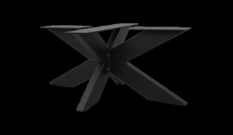 Pied de table basse - modèle 3D - revêtement époxy noir - métal