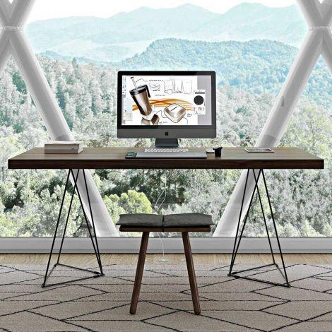 Table Multis 160cm - noyer/noir