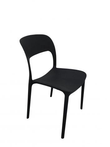 Lot de 4 chaises Carla - noir